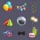 Realistic Celebration Icons - GraphicRiver Item for Sale