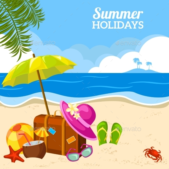 GraphicRiver Summer Seaside 10925648