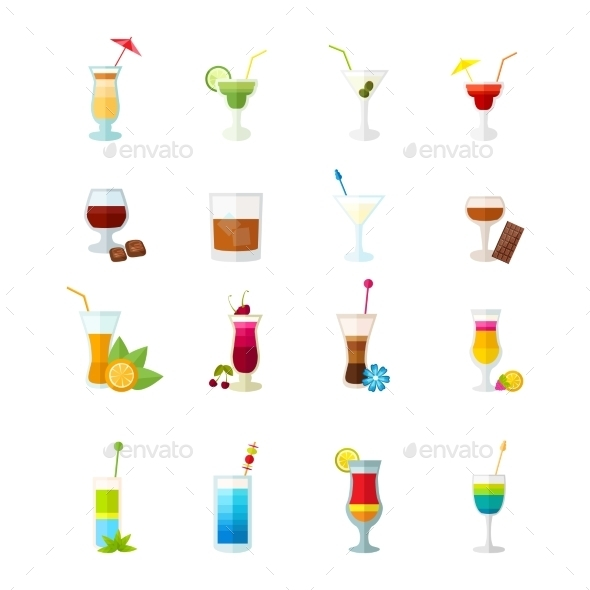 GraphicRiver Cocktail Set 10925649