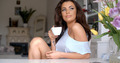 Gorgeous young woman sitting drinking coffee - PhotoDune Item for Sale