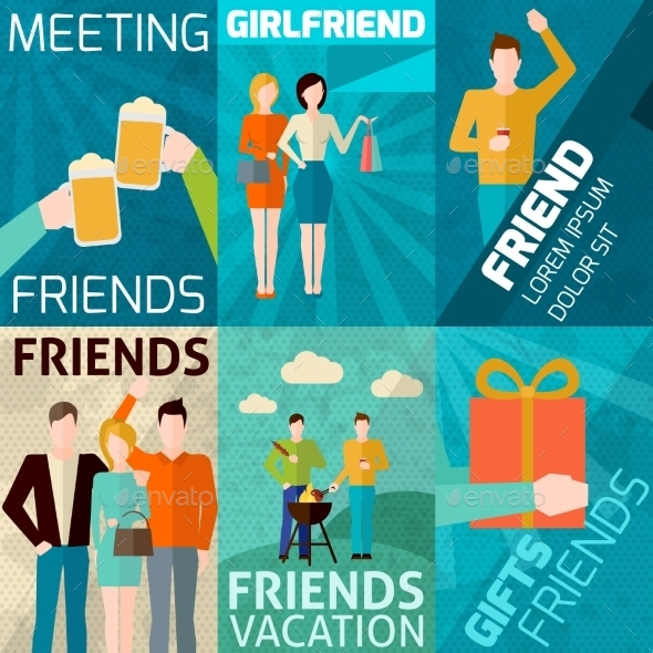 GraphicRiver Friends Mini Poster Set 10925683