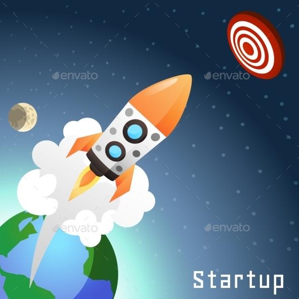 GraphicRiver Startup Rocket Concept 10925698