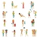 Vacation People Set - GraphicRiver Item for Sale