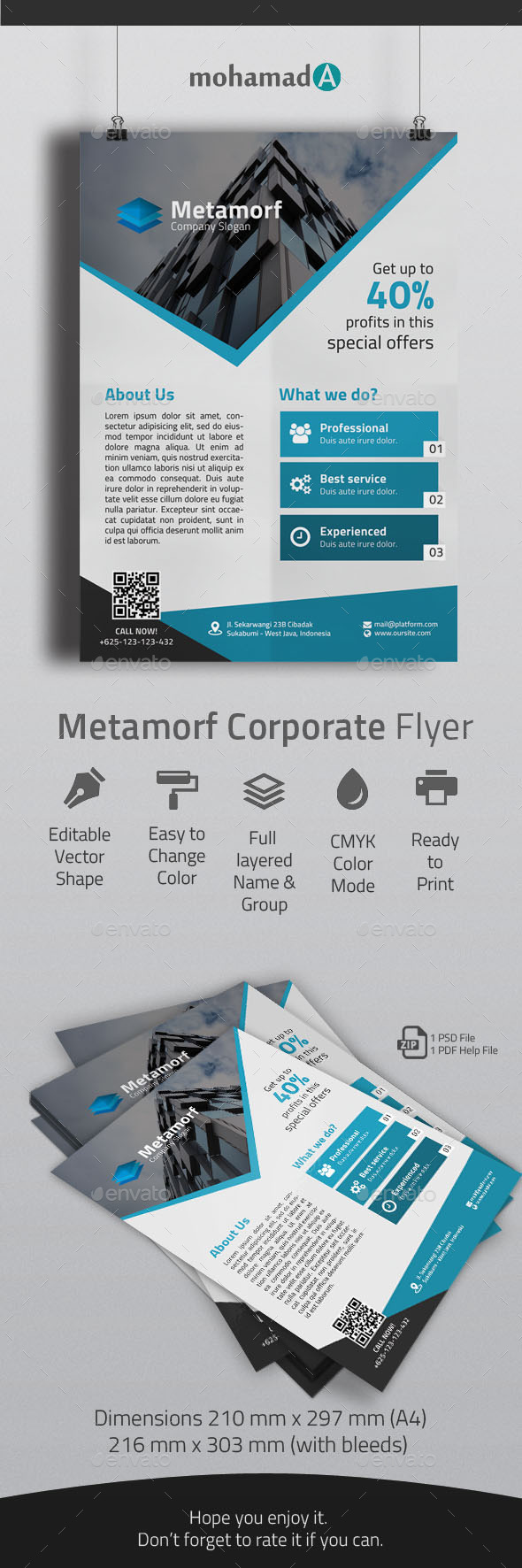 GraphicRiver Metamorf Corporate Flyer 10863926