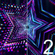 VJ Neon Star Tunnel - Colorful Glowing Particle - VideoHive Item for Sale