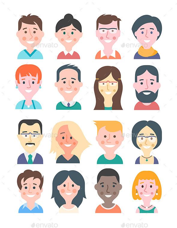 GraphicRiver Cartoon People Avatars 10926916