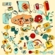 Internet Of Things Doodles Colored - GraphicRiver Item for Sale