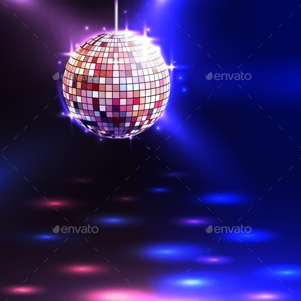 GraphicRiver Disco Ball Background 10927560
