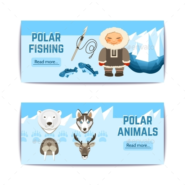 GraphicRiver Chukchi Banners Set 10927577