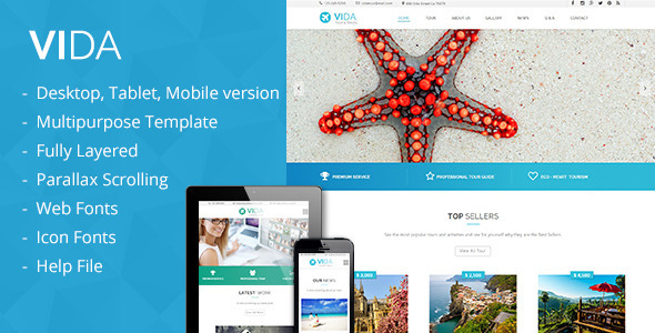 ThemeForest Vida Multipurpose Template 10927622