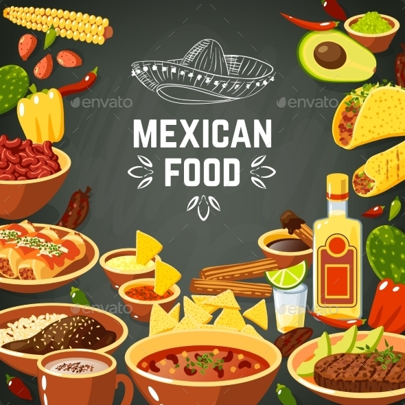 GraphicRiver Mexican Food Illustration 10927637
