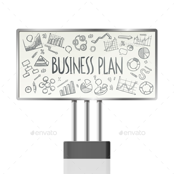 GraphicRiver Business Charts In Billboard 10927639