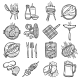 Bbq Grill Icons Set - GraphicRiver Item for Sale