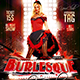 Flyer Burlesque Show Konnekt - GraphicRiver Item for Sale