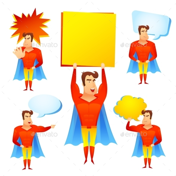 GraphicRiver Superhero Cartoon 10927668
