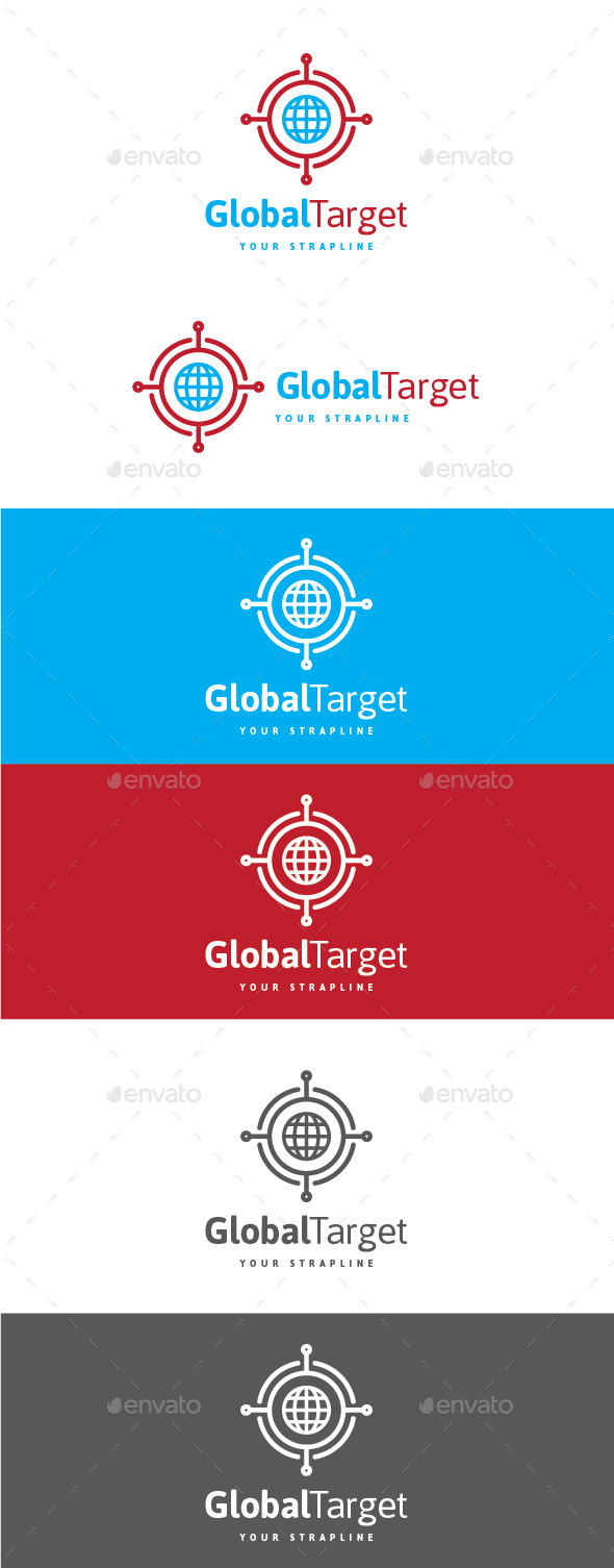 GraphicRiver Global Target Logo 10927683