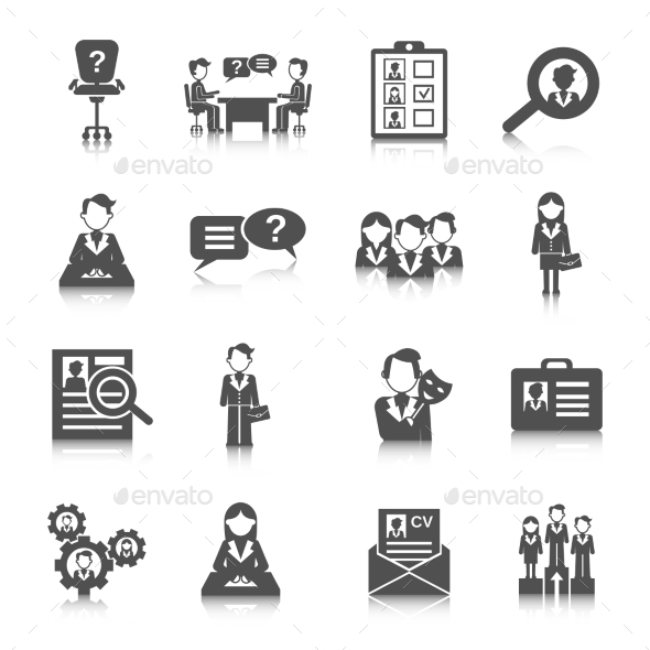 GraphicRiver Human Resources Icon 10927712