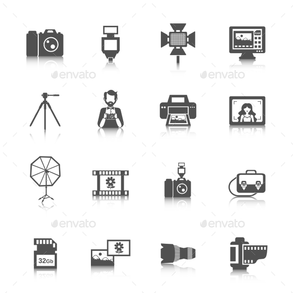 GraphicRiver Photography Icons Set 10927717
