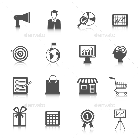 GraphicRiver Marketing Icons Set 10927732