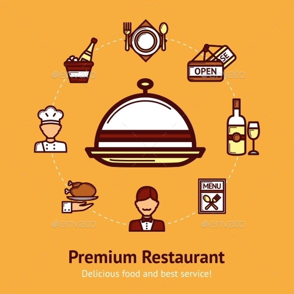 GraphicRiver Restaurant Concept Illustration 10927737