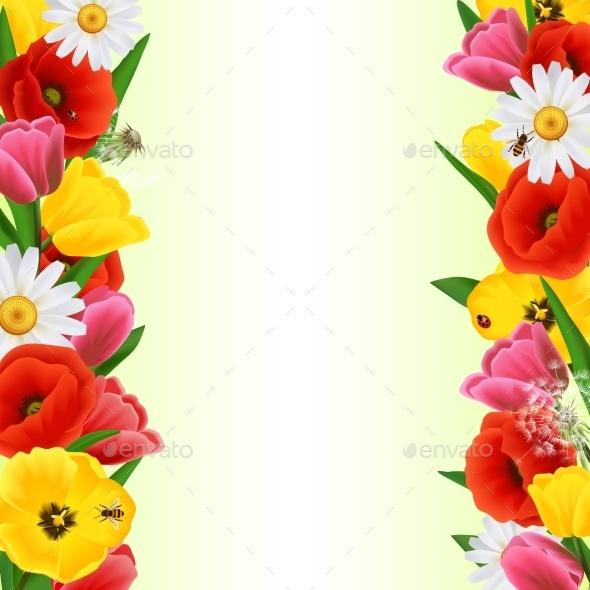 GraphicRiver Colorful Flower Border 10927747