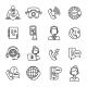 Call Center Outline Icons Set - GraphicRiver Item for Sale