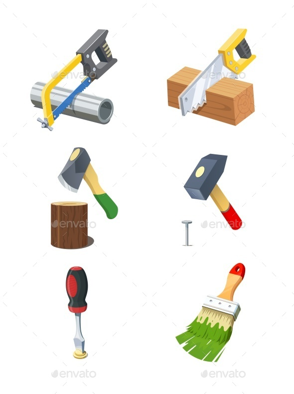 GraphicRiver Tools Set of Vector Icon 10927948