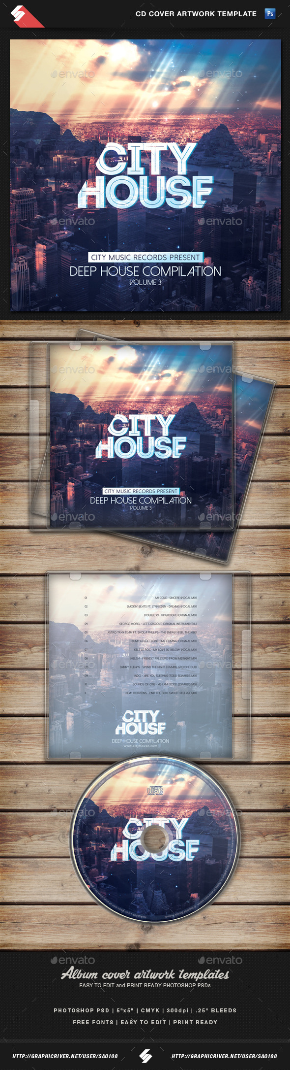 GraphicRiver City House CD Cover Artwork Template 10927969