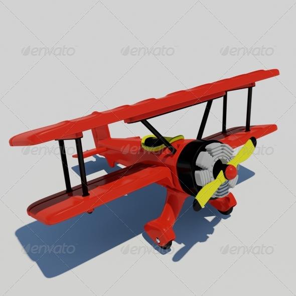 3DOcean Toy Plane 135715