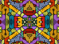 Multicolor Tribal Geometric Seamless Pattern - PhotoDune Item for Sale