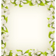 Cherry Flowers with Pearl Beads like Frame - GraphicRiver Item for Sale