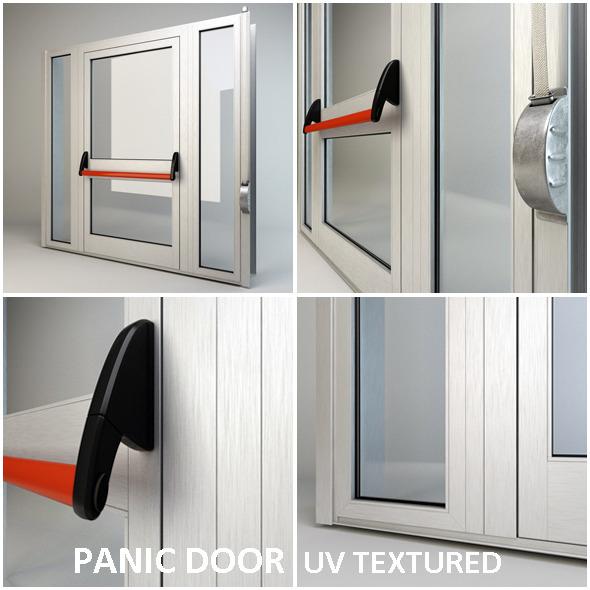 Panic door - 3DOcean Item for Sale