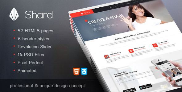 ThemeForest Shard Multipurpose Business HTML5 Template 10891868