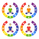 Yoga Lifestyle Circles Set with People Isolated - GraphicRiver Item for Sale