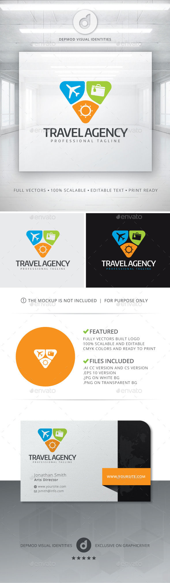 GraphicRiver Travel Agency Logo 10928534