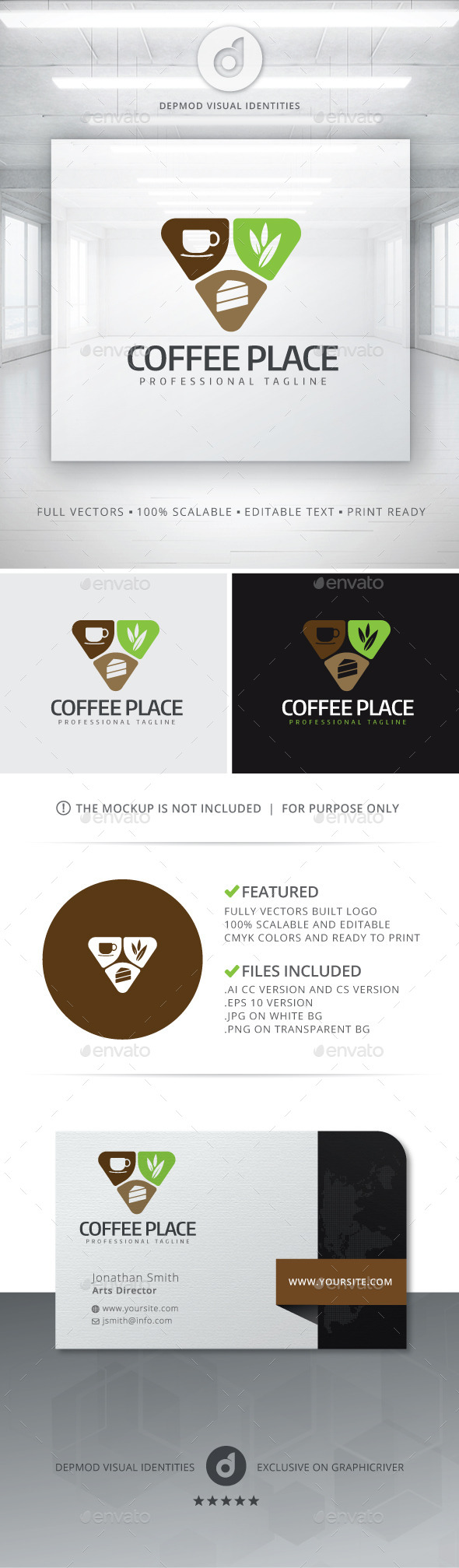 GraphicRiver Coffee Place Logo 10928563