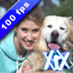 Young Woman Hugging Dog - VideoHive Item for Sale