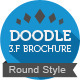 Doodle Trifold Brochure (Round) - GraphicRiver Item for Sale