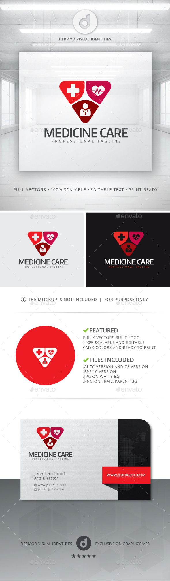 GraphicRiver Medicine Care Logo 10928800