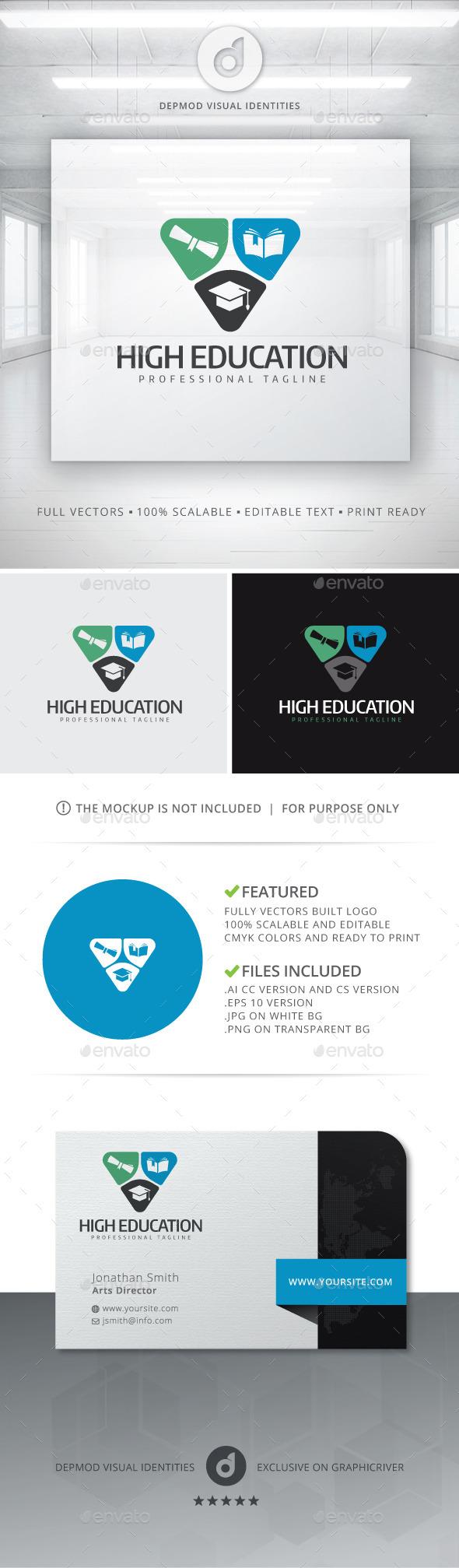 GraphicRiver High Education Logo 10928902