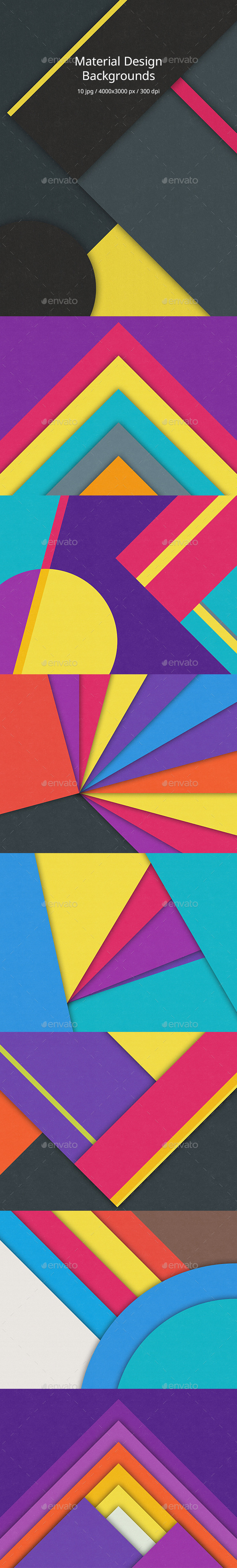 GraphicRiver Material Design Backgrounds 10928921