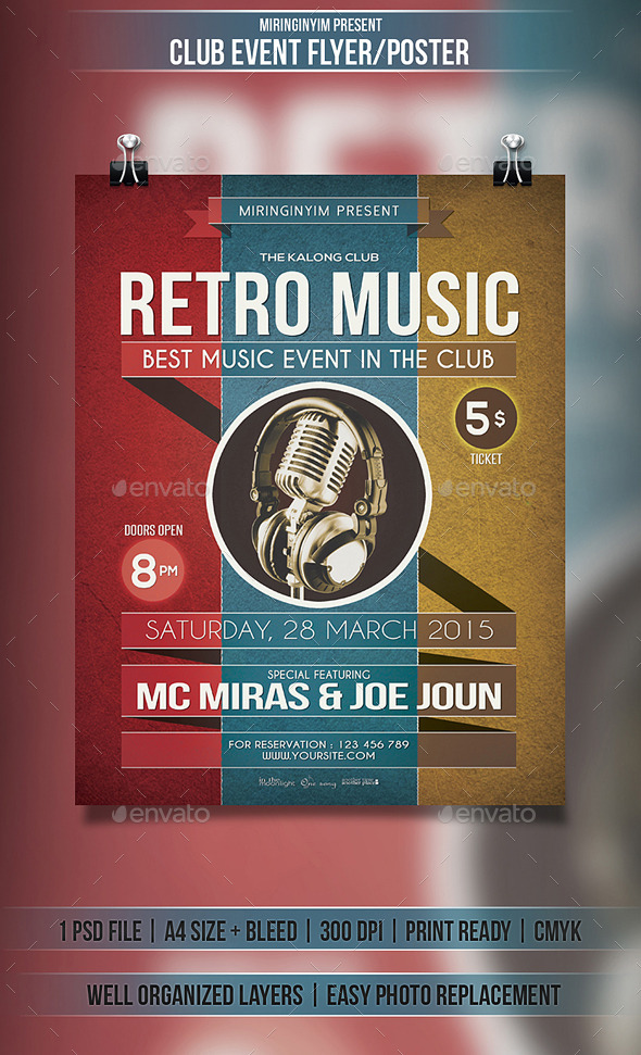 GraphicRiver Retro Festival Flyer Poster 10929109