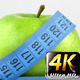 Apple and Measurement Diet Fit Life Concept 5 - VideoHive Item for Sale