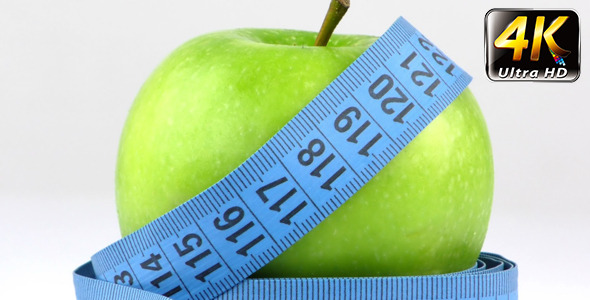Apple and Measurement Diet Fit Life Concept 5