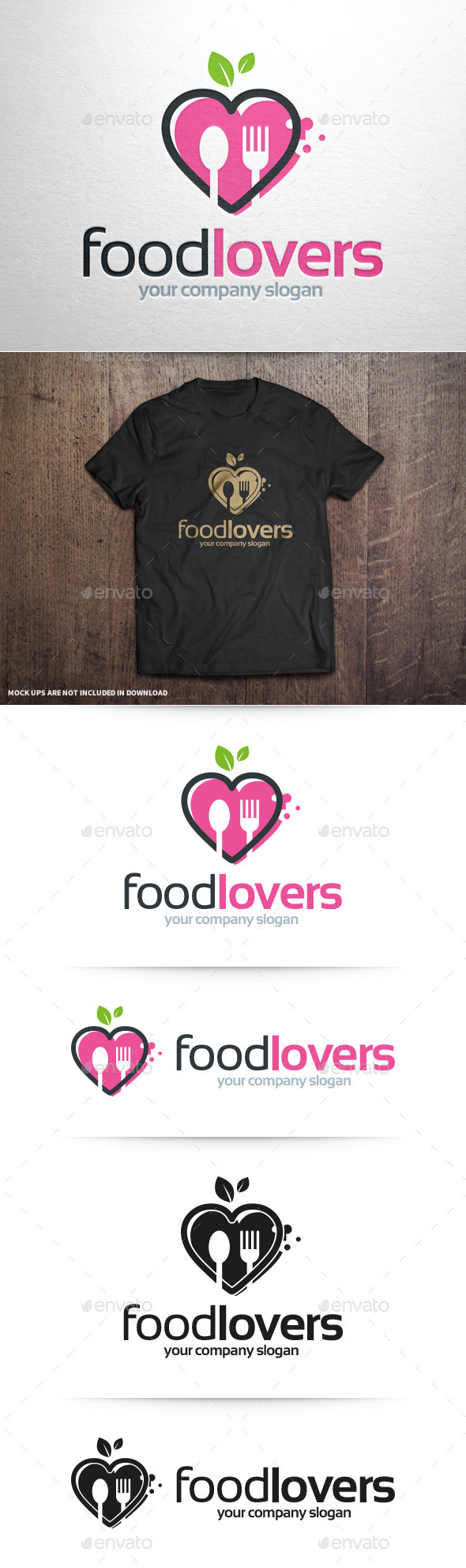 GraphicRiver Food Lovers Logo Template 10929282