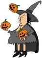 Witch juggling pumpkins - PhotoDune Item for Sale