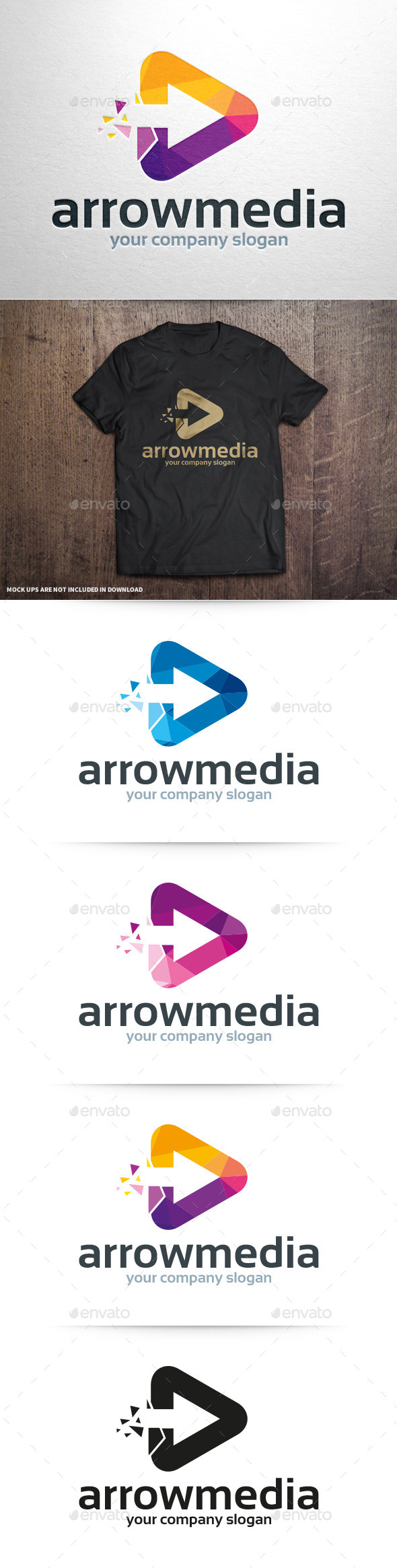 GraphicRiver Arrow Media Logo Template 10929307