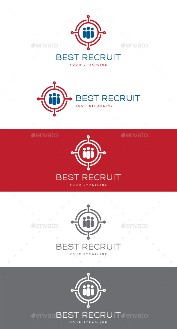 GraphicRiver Best Recruit Logo 10929365