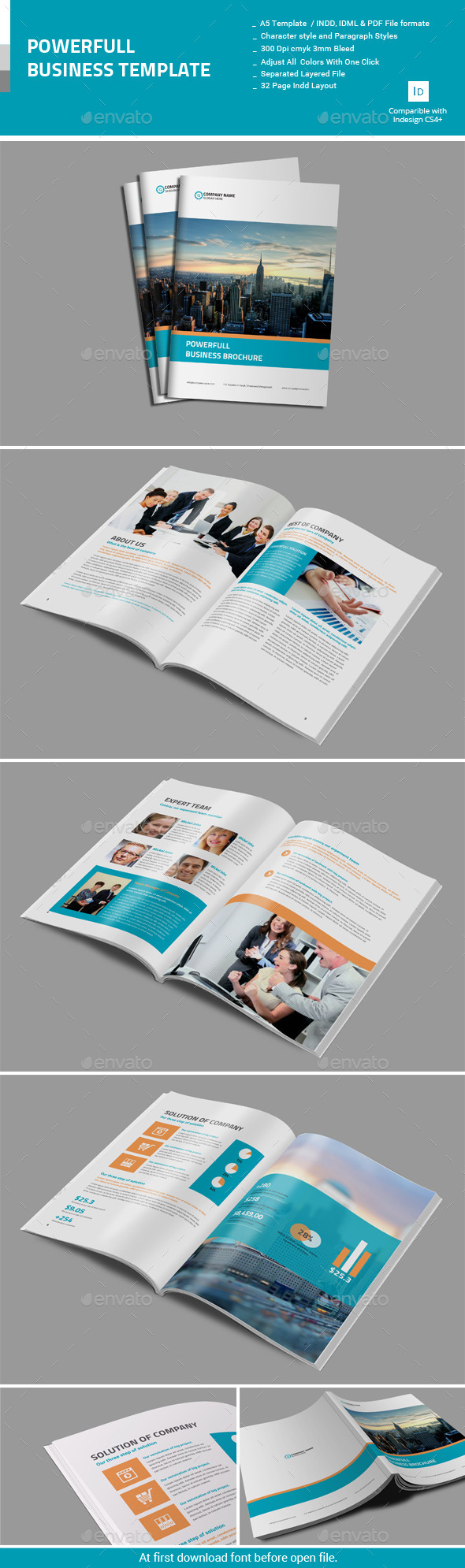 GraphicRiver Powerfull Business Brochure 10929383