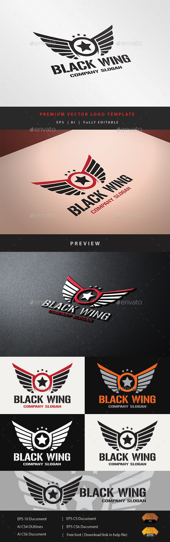 GraphicRiver Black Wing 10929481